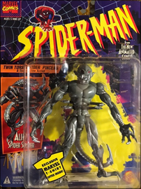 Alien Spider Slayer - Twin Torso Spider Pincers & Snarling Jaw Action / Spider-Man: The Animated Series - Toy Biz 1994