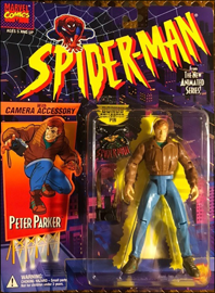 Peter Parker with Camera Accessory / Spider-Man: The Animated Series - Toy Biz 1994 picture
