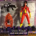 Spider-Woman - Black Widow Assault Gear / The Amazing Spider-Man - Toy Biz 1996
