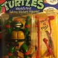"Talkin' Raphael - ""Totally Awesome!"" & ""Rock 'n Roll!"" | Teenage Mutant Ninja Turtles (World's First Talking Mutant Figures!) - Playmates Toys 1991 фото-2"