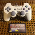 Геймпад DualShock - белый (б/у) для Sony PlayStation 1 Slim (PSone)