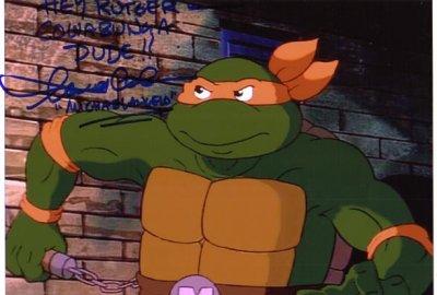 "Talkin' Michelangelo - ""Pizza Time!"" & ""Kowabunga!""   Teenage Mutant Ninja Turtles (World's First Talking Mutant Figures!) изображение-1"