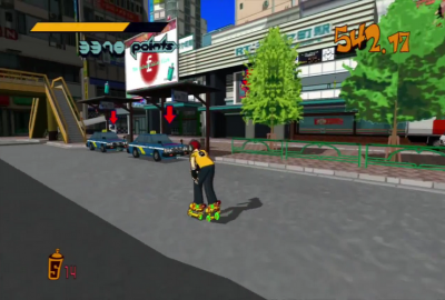 Jet Set Radio (Sega Dreamcast) скриншот-1