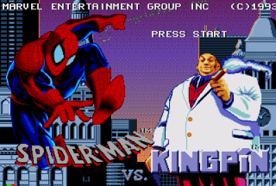 The Amazing Spider-Man vs. The Kingpin (Sega MEGA-CD) скриншот-1