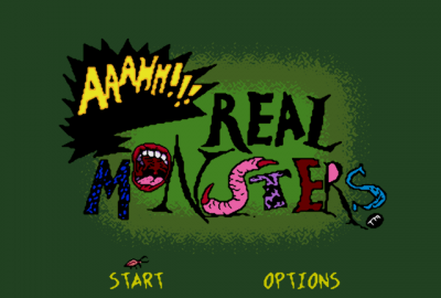 Aaahh!!! Real Monsters (Sega Mega Drive) скриншот-1