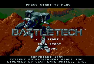 Battletech: A Game of Armored Combat (Sega Genesis) скриншот-1