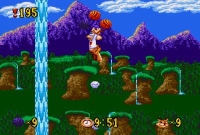 Bubsy in: Claws Encounters of the Furred Kind (Sega Genesis) скриншот-1