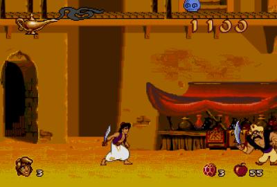 Disney's Aladdin (Sega Genesis) скриншот-1