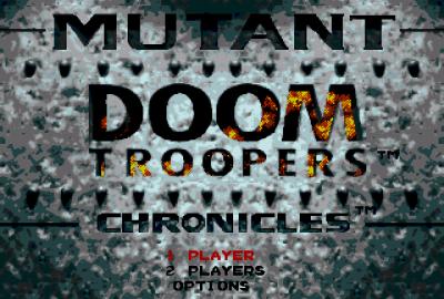 Doom Troopers (Sega Genesis) скриншот-1