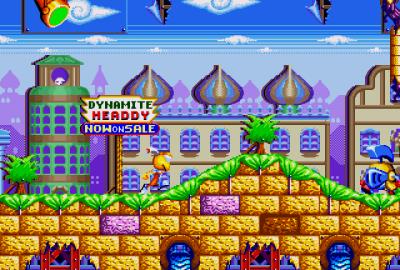 Dynamite Headdy (Sega Mega Drive) скриншот-1