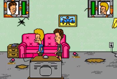 MTV's Beavis and Butt-head (Sega Mega Drive) скриншот-1