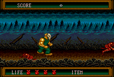 Splatterhouse 2 (Sega Mega Drive) скриншот-1