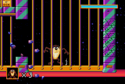 Taz in Escape from Mars (Sega Mega Drive) скриншот-1