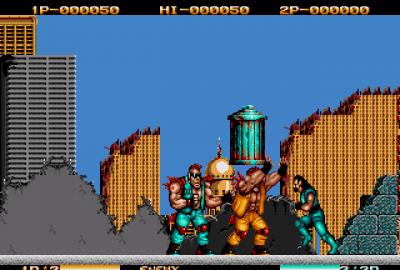 Two Crude Dudes (Sega Mega Drive) скриншот-1