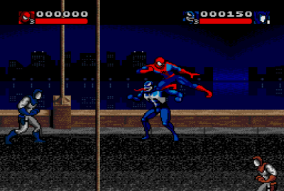 Venom - Spider-Man: Separation Anxiety (Sega Genesis) скриншот-1