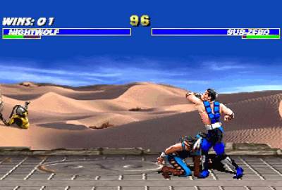 Ultimate Mortal Kombat 3 (Sega Saturn) скриншот-1