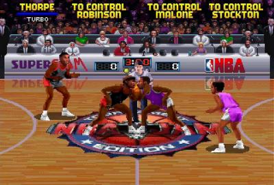 NBA Jam Tournament Edition (Long Box) (PS1) скриншот-1