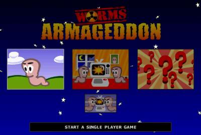 Worms Armageddon (PS1) скриншот-1