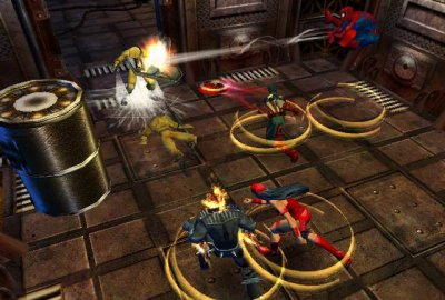 Marvel: Ultimate Alliance (PS2) скриншот-1