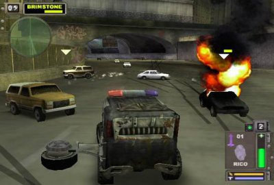 Twisted Metal: Black (PS2) скриншот-1