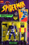 Nick Fury - Missile Launching Jet Pack! / Spider-Man: The Animated Series - Toy Biz 1994