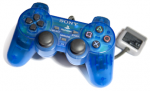 Gamepad DualShock (Clear Blue) (used) (Sony PlayStation 1) (PS1)