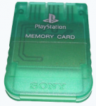 Карта памяти - Green Crystal (б/у) для Sony PlayStation 1