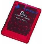 Карта памяти 8MB - красная (б/у) для Sony PlayStation 2